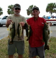 Dwayne Haga and Dave Metzler with 19.68 pounds and !st place Lake Poinsett